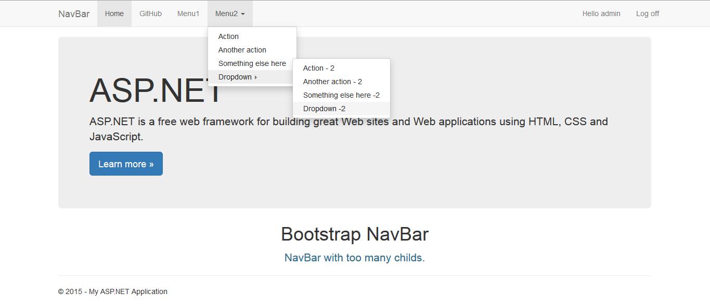 Bui bootstrap net dynamically generated menu bar_asp. Net_programering.